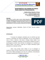 MODELAGEM MATEMÁTICA NO ENSINO DE FÍSICA, RECURSOS DIDÁTICO-PEDAGÓGICOS