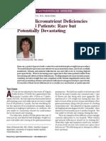 Deficiencies Bariatric Surgery