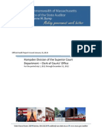 Official Audit Report Hampden Division of the Superior Court Department Clerk of Courts' Office