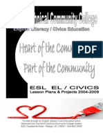 ESL EL/Civics Lesson Plans & Projects 2004-2009