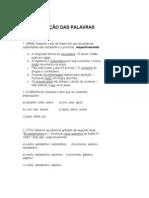100 exercícios CLASSE DE PALAVRAS.doc