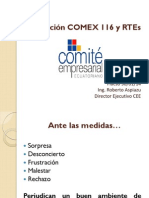 Resolución COMEX 116 y RTEs