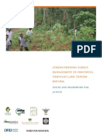 Strengthening Forest Management in Indonesia Through Land Tenure Reform