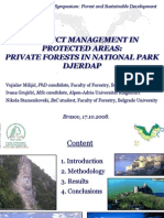 VM_Conflict Management in Protected Areas Private Forests in National Park Djerdap Nr.1.
