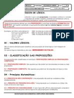 INTRODUÇÃO A LÓGICA MATEMÁTICA (1º ANO 2013)