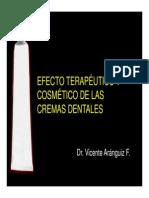 Efecto Terapeutico de Las Cremas Dentales - Dr Vicente Aranguiz