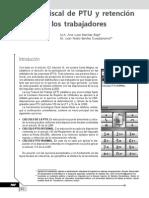 Calculo fiscal de PTU y retención de ISR a los trabajadores