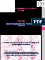 TRASTORNOS DE LA ESTÁTICA PÉLVICA GENITAL