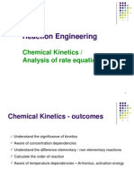 Week 2. Chemical Kinetics Analysis of Rate Equation