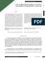 DETERMINANTES DE LA ALTERNANCIA POLÍTICA EN MÉXICO DE 1989-2009 DE IRVIN MIKHAIL ZAZUETA.pdf