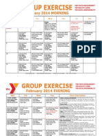 FEBRUARY 2014 Group Exercise Calendar