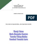 Causas Del Comercio Internacional Maria Guerrero