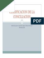 La Conciliacion Clasificacion de La Conciliacion