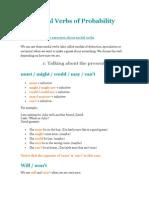 Modal Verbs of Probability
