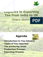 Group 5B Logistics in Exporting Tea From India to UK