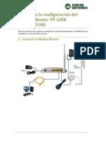 181,825 Router Wifi TP-LINK TD-W8951ND - Guía de configuración