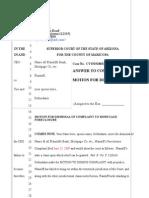 Motion f Dismissal Blank
