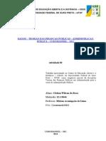 Atividade 02 - Teorias das Finanças Públicas