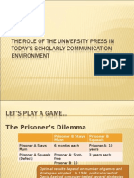 The Role of the University Press in Today's