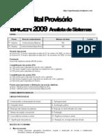 Edital Provisório do BACEN - Analista de Sistemas