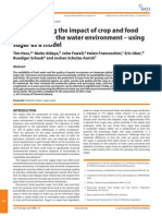 Understanding the Impact of Crop and Food Production on Water Environment Using Sugar as Model