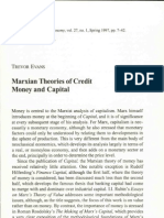 Trevor Evans - Marxian Theories of Credit Money and Capital