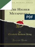 The Higher Metaphysics 1000041877