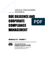 Due Diligence and Corporate Compliance Management