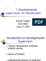 Chapter 7-Developmental Supervision