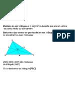 Medianas e baricentro de um triângulo