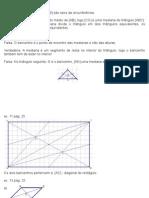 Medianas de um triângulo - resolução de exercícios