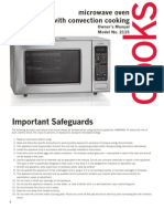 Microwave Convection Oven Manual