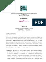 Gacetilla III Identidad y Memoria 2009 - IUNA