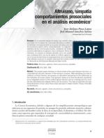 Altruismo,Simpatia Y C P en El Analisis Economico