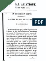 Amelineau-Martyre de Jean de Phanidjoit