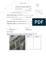 Parallel Lines 2 Guided Notes