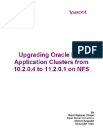Oracle 10g to 11gr2 Upgrade