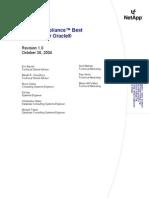 Oracle Netapp Best Practices