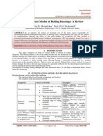 Study of Failure Modes of Rolling Bearings