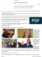 131206 Nelson Mandela Anti-Apartheid Icon and Father of Modern South Af
