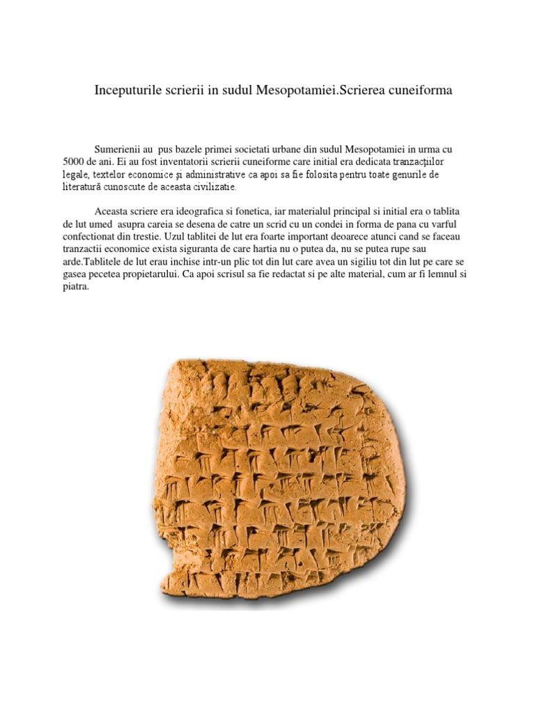 Scrierea Cuneiforma