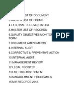 Audit Documents