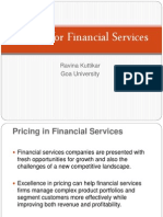 Marketing Pricing for financial services