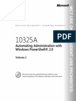 MS 10325A Microsoft Automating Administration With Windows PowerShell 2.0 Trainer HandBook Vol1-LMS - 2010