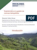 20140131 Celleri - Experiencias en El Manejo de Cuencas Hidrograficas - Jornadas Ingenieria Ambiental