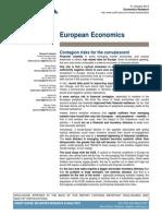 """Credit Suisse, European Economics, Jan 31, 2014. """"Contagion risks for the convalescent."""""""