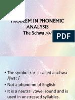 Problem in Phonemic Analysis-schwa
