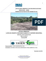 Estudo Ambiental Pedreira