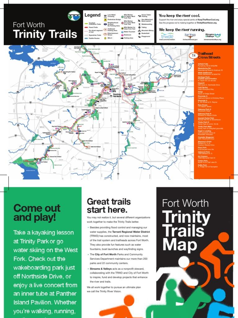 Trinity River Trail Map | Trail | Fort Worth