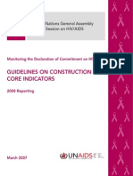 UNGASS Guidelines on Construction of Core Indicators 2008 UNAIDS